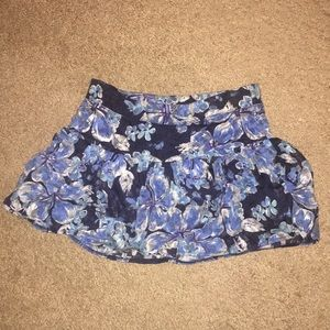 Justice Floral Ruffled Skirt
